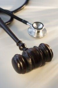Pierce County Motorcycle Accident Attorneys Judge's gavel next to stethoscope